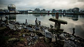 Inukshuks on False Creek